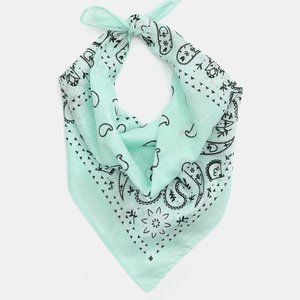 Pastel Green Bandana with Paisley Print